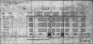 Løvenskiolds gt 11  Fasade vest