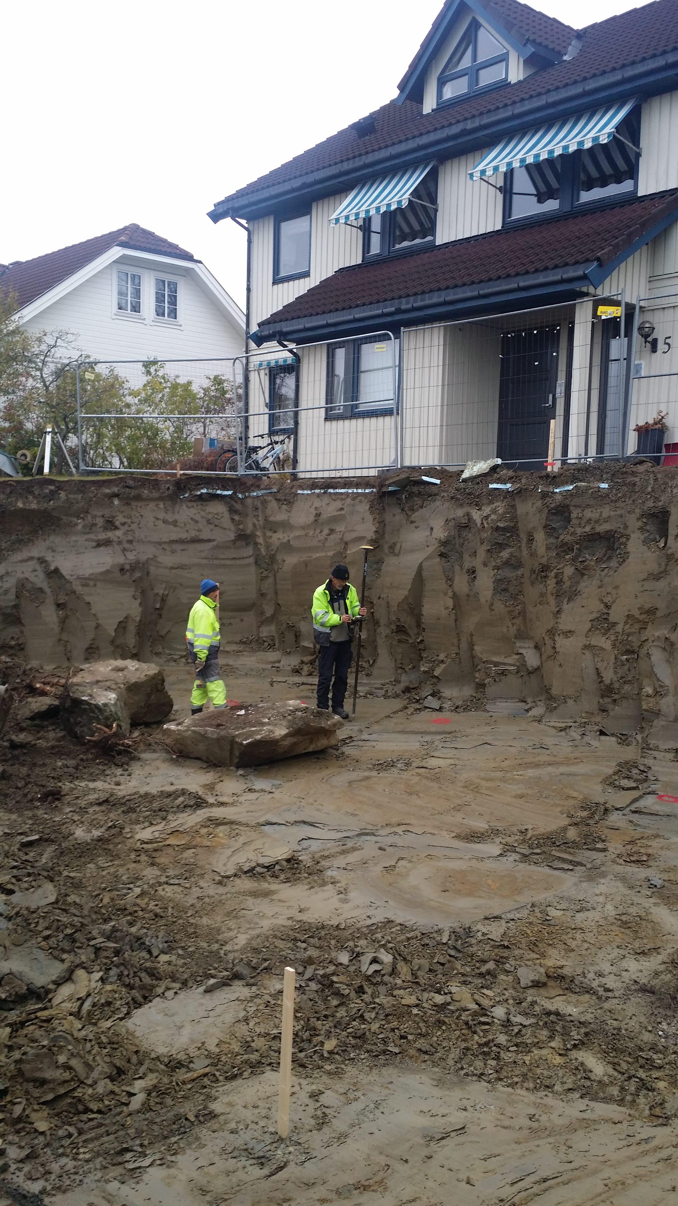 Oppmåling etter utgraving
